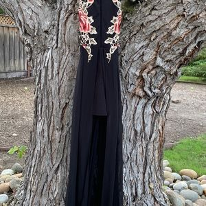 High Lo Maxi Dress with built in shorts